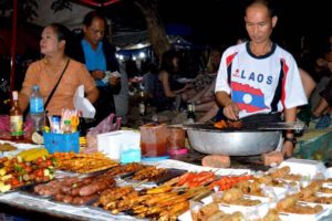Laos Night Market Vendors - Luang Prabang