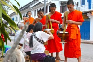 Monks Alms Giving Ceremony - Luang Prabang, Laos