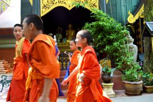 Monks at Wat Phra Kaew - Chiang Rai, Thailand