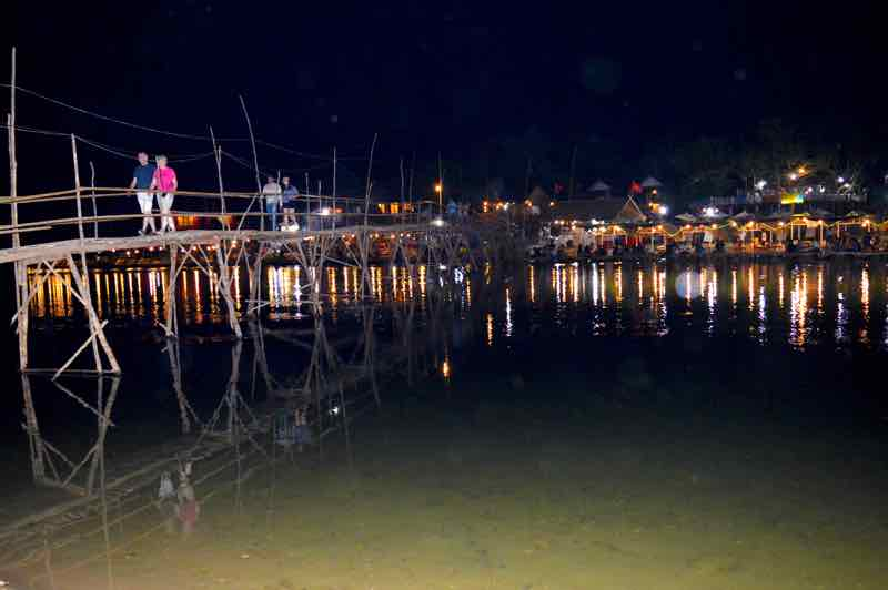Nam Song River by Night - Vang Vieng, Laos