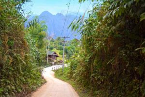 Road to Our Bungalow - Vang Vieng, Laos