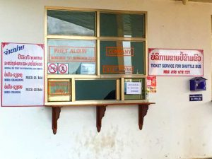 Shuttle Bus Ticket Sales - Laos Thai Border