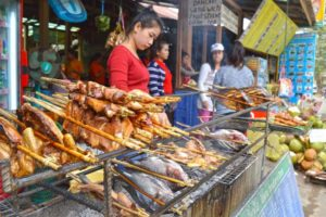 Street Food at Kuang Si Falls - Laos