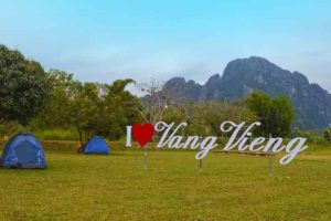 Tents at Riverside Garden Bungalows - Vang Vieng Budget - Laos