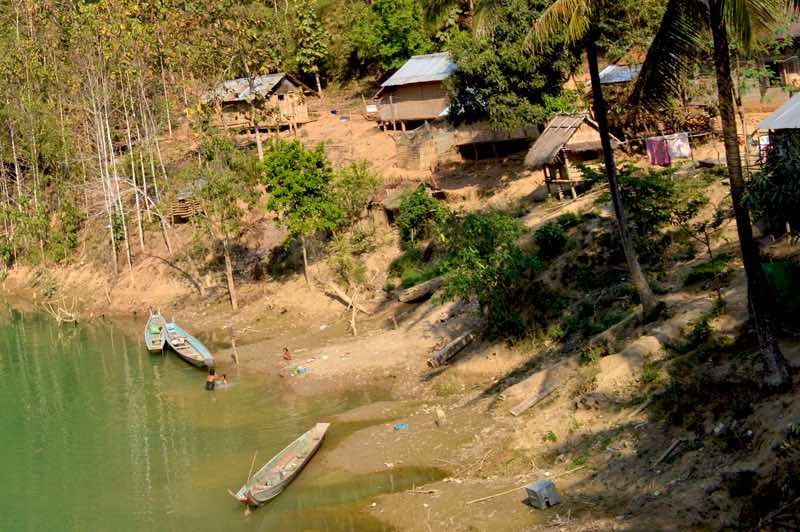 Village With Water - Laos