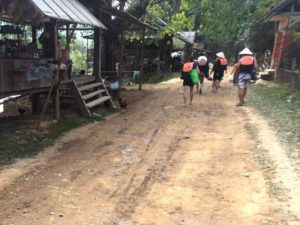 Walking to Tubing - Vang Vieng, Laos