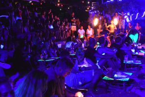 Real Moon Party Beach Fun - Koh Tao Nights, Thailand