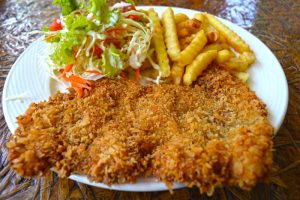 Bingo Restaurant, Schnitzel with Fries - Koh Tao, Thailand