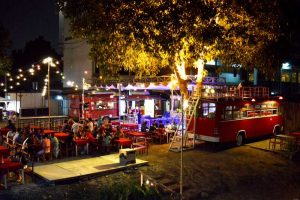 Bus Bar at the Ping Riverside by the Iron Bridge - Chiang Mai, Thailand