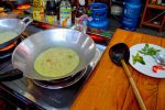 Coconut Milk, Chicken and Eggplant Simmer - Green Curry, Cooking School, Chiang-Mai