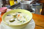 My Finished Tom Kha Kai Soup - Cooking Class, Chiang Mai