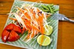 Papaya Salad Vegetables - Chiang Mai, Cooking School