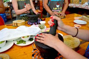 Pounding Curry Paste - Chiang Mai, Thailand
