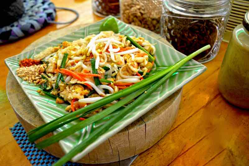 Proper Plated Pad Thai By Chef Bow - Chiang Mai, Thailand