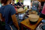 Steaming Rice in Cooking Class - Chiang Mai, Thailand