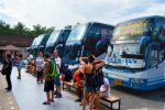 Stretching Legs - Lompraya Bus from Koh Tao to Bangkok