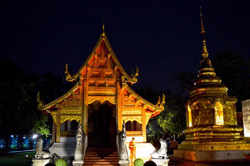 Wat Phra That Doi Suthep Temple by Night - Chiang Mai, Thailand