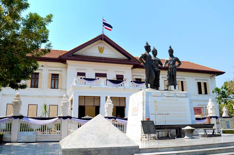 Three Kings Monument at the Arts and Culture Center - Chiang Mai, Thailand