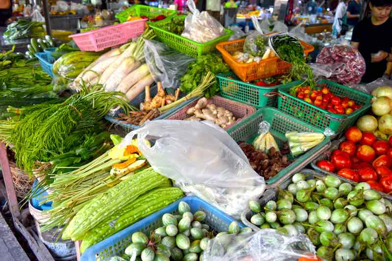 Typical Thai Vegetables - Market, Chiang Mai