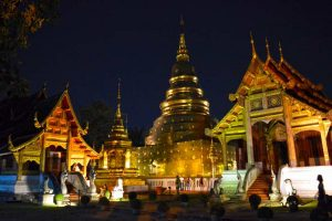 Wat Phra That Doi Suthep, Night Perspective - Chiang Mai, Thailand