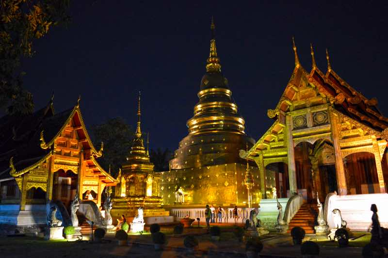 Wat Phra Singh, Night Perspective - Chiang Mai, Thailand