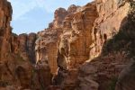 Sun plays on the Canyon Rocks - Petra, Jordon