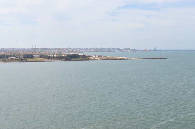 Exiting the Suez Canal at Port Said - 0188