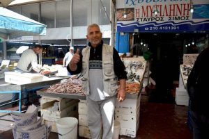 Friendly Sales Man at Market - Piraeus, Greece