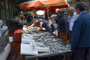 Sardine Stand at the Market - Piraeus, Greece