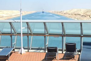 Suez Canal View from the Back of the Ship - 0017