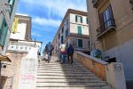 Alley with Stairs - Leads to Pizza - Civtavecchia, Rome Port, Italy