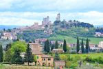 Distant View of San Gimignano, Italy - Cruise Port Livorno