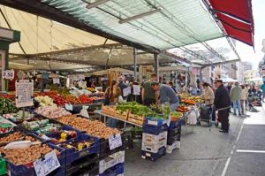 Market Stands - Market in Civitavecchia, Port of Rome