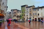 Rain Shower - San Gimignano, Tuscany - Cruise Port Livorno