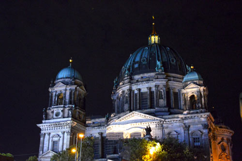 Spree River Landmarks Lit Up - Berlin Cathedral at Night -0136