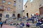 Stairs in City Square - San Gimignano, Italy - Cruise Port Livorno