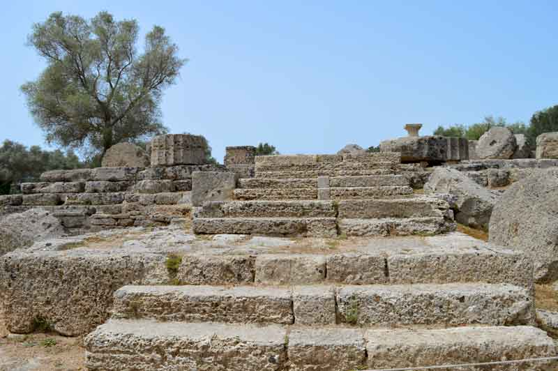 Temple of Zeus Stairs - Olympia, Greece - 0324