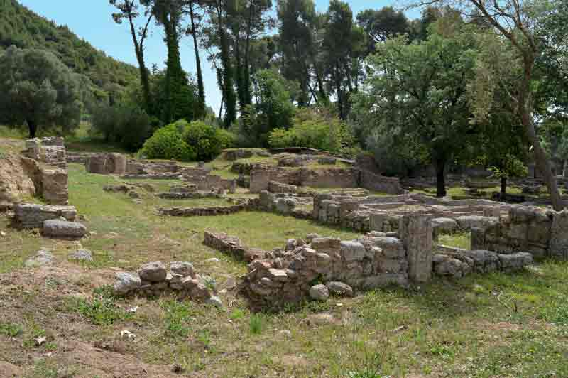 The Thermes of Kroniun Ruins - Olympia, Greece - 0276