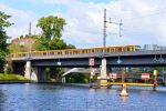Train Bridge over Canal - Berlin Spree River -0235