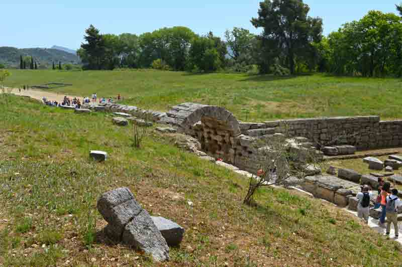 View of the Stadium, Taken From the Treasuries - Olympia, Greece - 0305