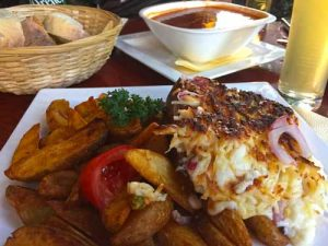 Baked Pork Knuckle in Sheep Cheese - Restaurant Pizza Paradiscom, Budapest, Hungary