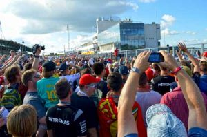 Formula 1 Hungaroring Pit Walk - Autograph Seeking Crowds