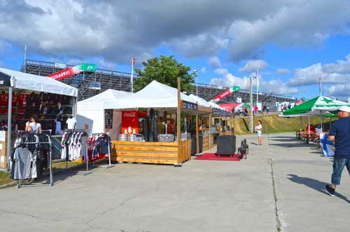 Many Food and Souvenir Booths - F1 Hungaroring, Hungary