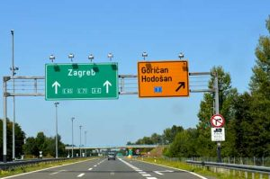 Highway to Zagreb, Croatia