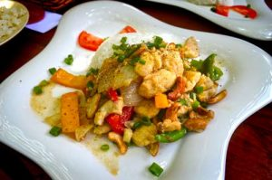AceroLa Restaurant Chicken Bell Pepper and Cashews Dish - Gia Thanh Guest House, Phu Quoc, Vietnam