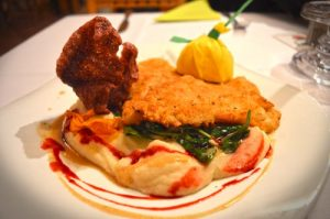 Flounder with Spinach & Celery Root Puree - Rugana Restaurant Review - Ruegen, Germany