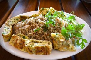 Fried Rice with Omelet Rolls and Parsley - Bia Ruou Restaurant, Phu Quoc, Vietnam