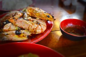 Prawns with Black Pepper Sauce - Phu Quoc Night Market, Quan An Mien Trung