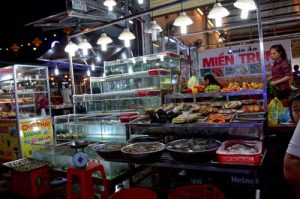 Seafood Display at Quan An Mien Trung - Night Market, Phu Quoc