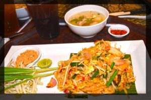Shrimp Pad Thai Menu Set - Yum Saap, Don Muang, Bangkok Airport